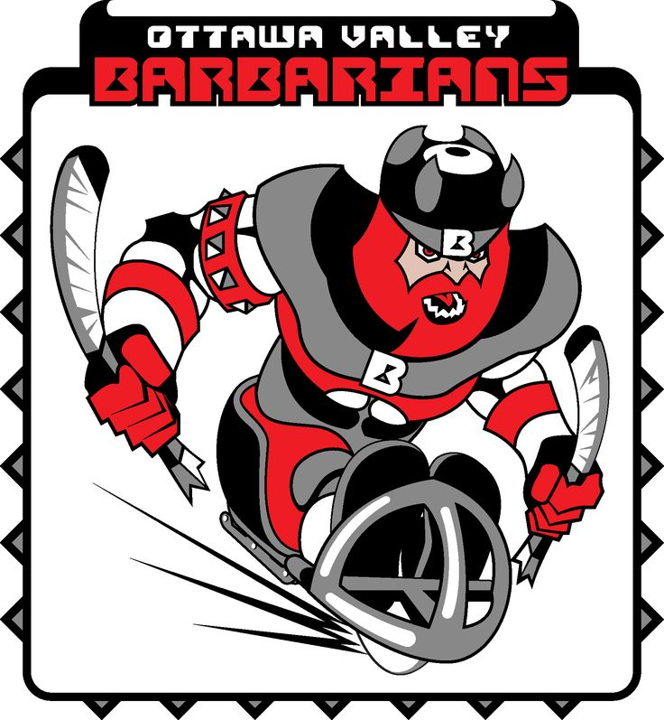 Ottawa Valley Barbarians – Logo – Vector Illustration / Re-Design of Version # 1 for the Ottawa Barbarians – sledge hockey team.