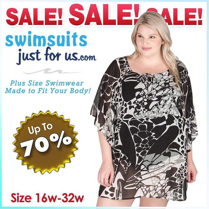 "You will find all kind of BEAUTIES in our 2017 Swimwear Clearance SALE including COVERUPS! Shop our website ""Sale and Clearance"" section for discounted Plus Size Swimwear and enjoy the savings!!!  Sizes 16W-32W. PLUS get free shipping: USE CODE C2017 at checkout #plussize #fashionnews #curvyfashion #plussizeswimwear #psblogger #psblog #loveyourcurves #realwomenhavecurves #shopplussize #swimsuitonline #modelswithcurves #plussizes #swimsuit #sj4us #curvyWomen #plussizeswimsuits #thisisplus…"
