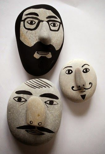 paper faces: Çakıl Taşı Boyama Sanatı