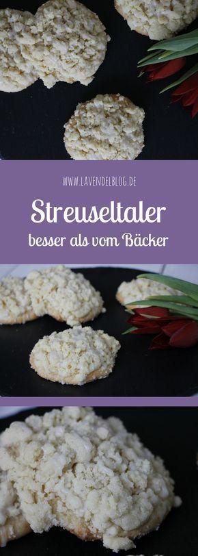 Streuseltaler Rezept: Diese Streuseltaler schmecken ungelogen besser als vom Bäcker. Der süße Hefeteig ist wunderbar fluffig. Ein süßes Teilchen perfekt für den Nachmittagskaffee.
