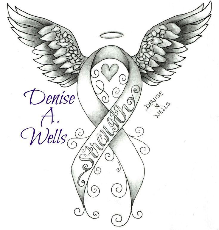 https://flic.kr/p/wWoQ25 | Strength awareness ribbon tattoo design by Denise A. Wells | Strength awareness ribbon tattoo design by Denise A. Wells
