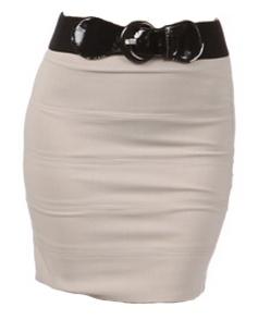 Black High Waisted Skirt with belt - $29