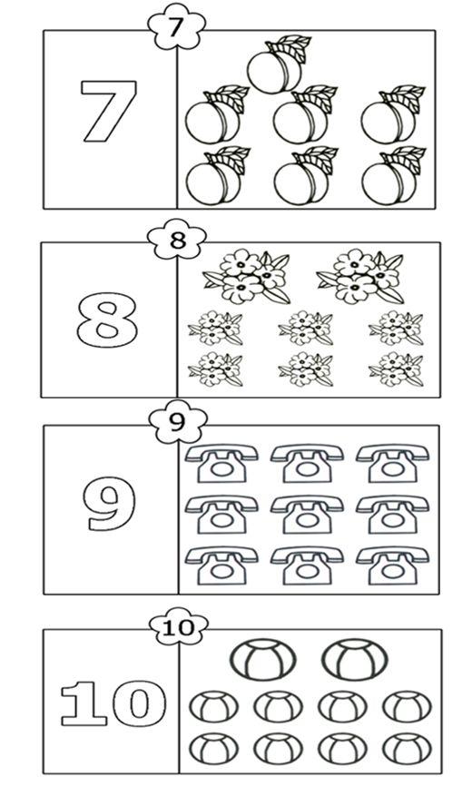 colorează şi numără 7-10