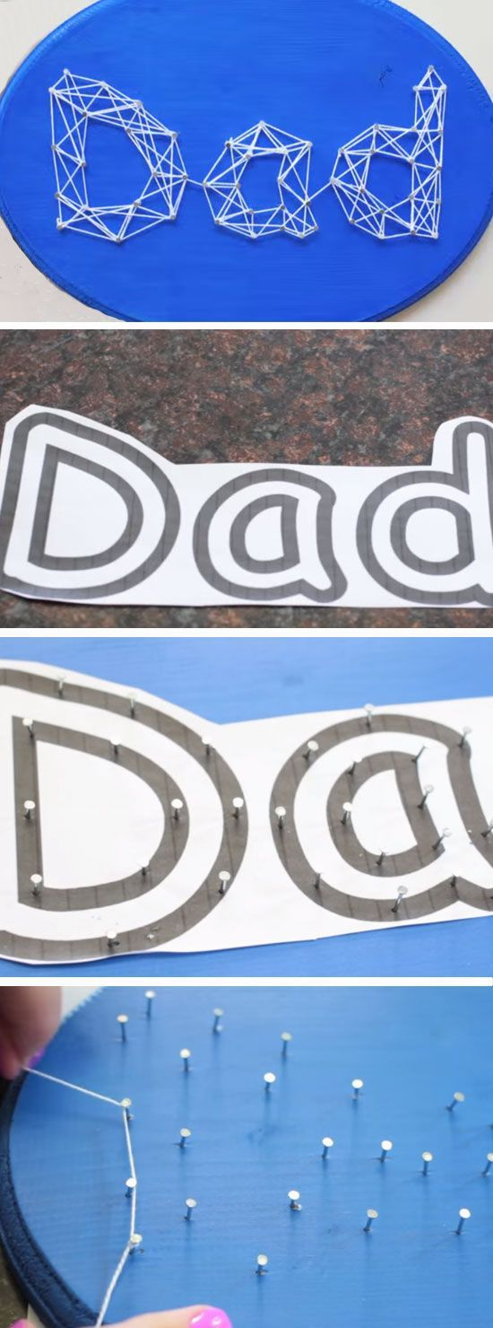 Dad String Art | DIY Fathers Day Crafts for Kids