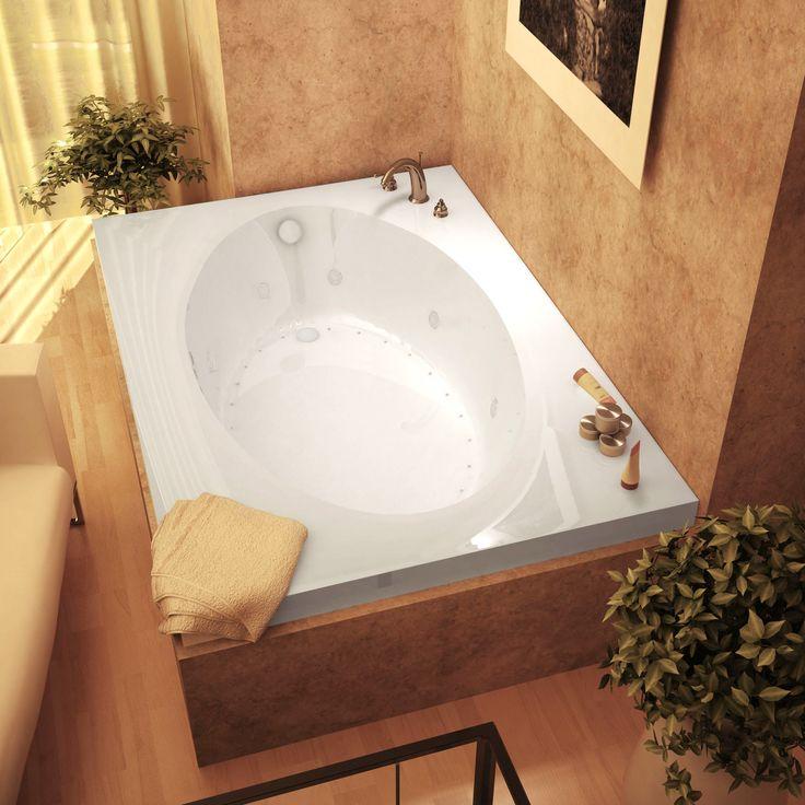 Atlantis Whirlpools 4260VDL Vogue 42 x 60 Rectangular Air & Whirlpool Jetted Bathtub