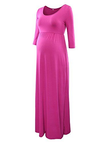 "New Trending Formal Dresses: Jinson Womens Basic 3/4 Sleeve Maternity Long Maxi Dress Vestido with Empire Waist for Pregnancy Magenta M. Jinson Women's Basic 3/4 Sleeve Maternity Long Maxi Dress Vestido with Empire Waist for Pregnancy Magenta M   Special Offer: $18.99      244 Reviews This product has not authorized any other shop, please look for our brand ""Jinson"". About Jinson Jinson is a new online..."