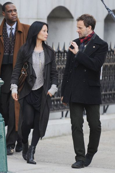 Elementary - Season 1 - Set Photos - BTS Photos of Lucy Lui and Jonny Lee Miller - 20th March 2012