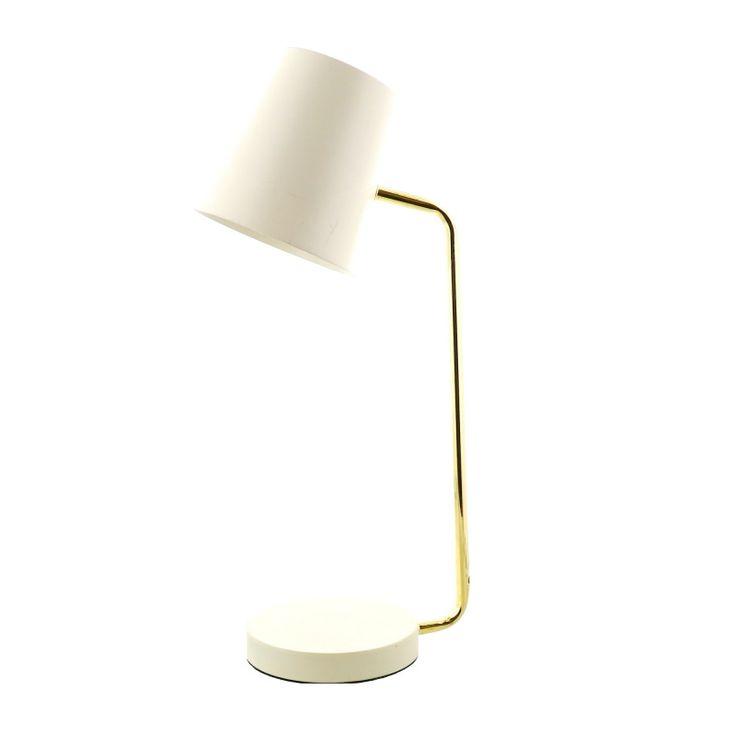 Lampe à poser en métal avec abat-jour et socle colorés et tige dorée. Illuminez votre intérieur et personnalisez votre décoration grâce à cette lampe tendance.  Dimensions (cm) : H46  Existe en plusieurs coloris.