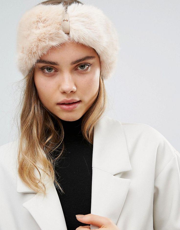 Image 1 ofTed Baker Mini Bow Faux Fur Headband