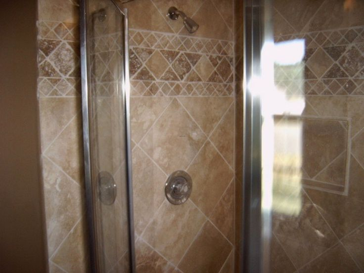 12 best Shower Tile Designs images on Pinterest | Bathroom ideas ...
