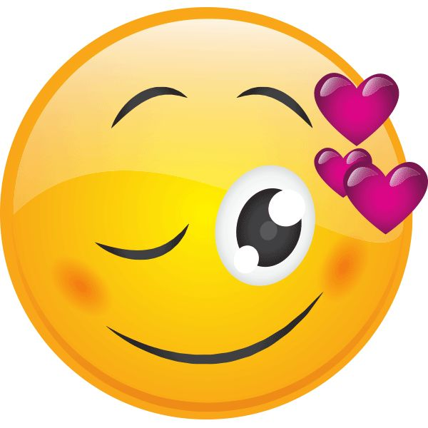 Wink with Hearts Smiley                                                       …