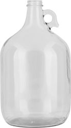 1 GAL (128 OZ) 38MM 38-405 CLEAR GLASS JUG. This jar is excellent for #drinks, #beverages, #chemicals and more.  May be a great opportunity for a #wedding #DIY project!