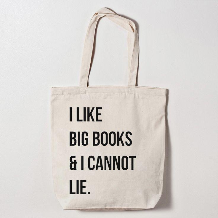 Tote Bag - I Like Big Books And I Cannot Lie Canvas Tote Bag
