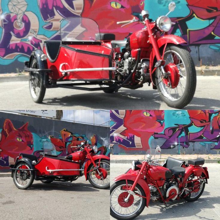 Moto Guzzi Falcone 500 con sidecar d'epoca  Omologato come sidecar staccabile tre posti  www.sidecarnapoli.com