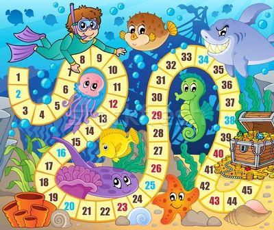 Bordspel · afbeelding · onderwater · water · vis · oceaan - vector illustratie © Klara Viskova (clairev) (#5386861) | Stockfresh