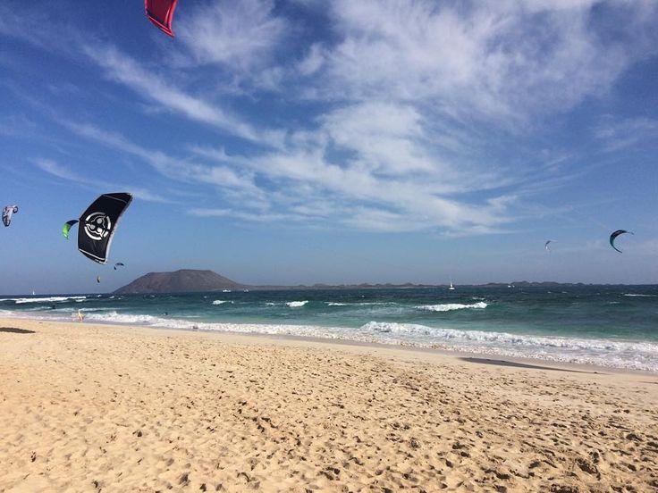 #kitesurf #kitesurfing #Fuerteventura #flagbeach #beachlife #christmasvacation in Spain