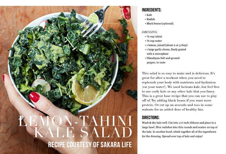 Lemon Tahini Kale Salad Recipe