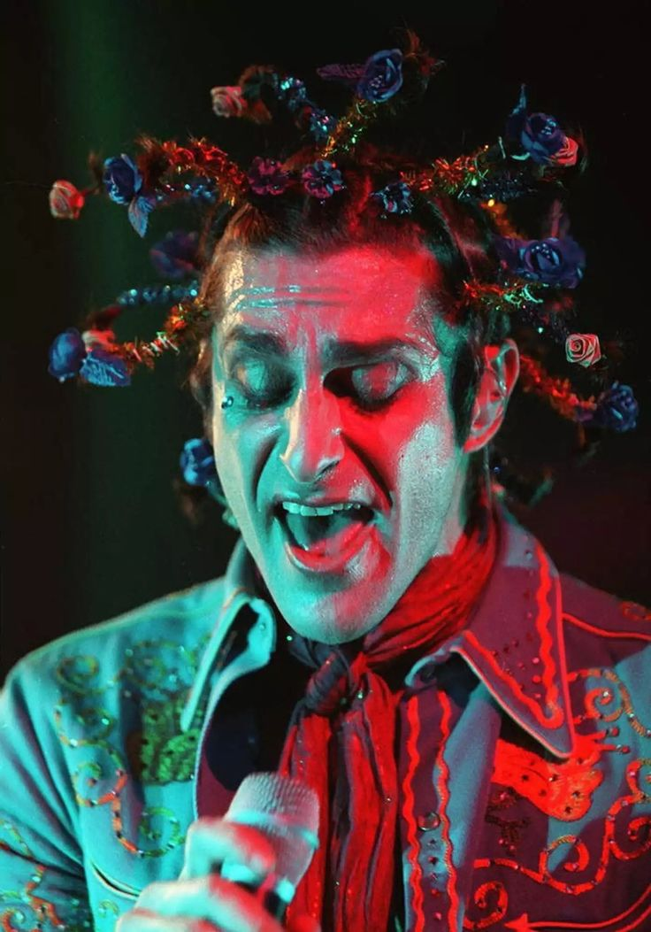 """Happy Birthday Perry Farrell  BIRTHDAY March 29, 1959  BIRTHPLACE New York  Frontman for the alternative rock band Jane's Addiction, the group known for the #1 single """"Been Caught Stealing,"""" and who also created the music festival Lollapalooza.  Mar 29"""