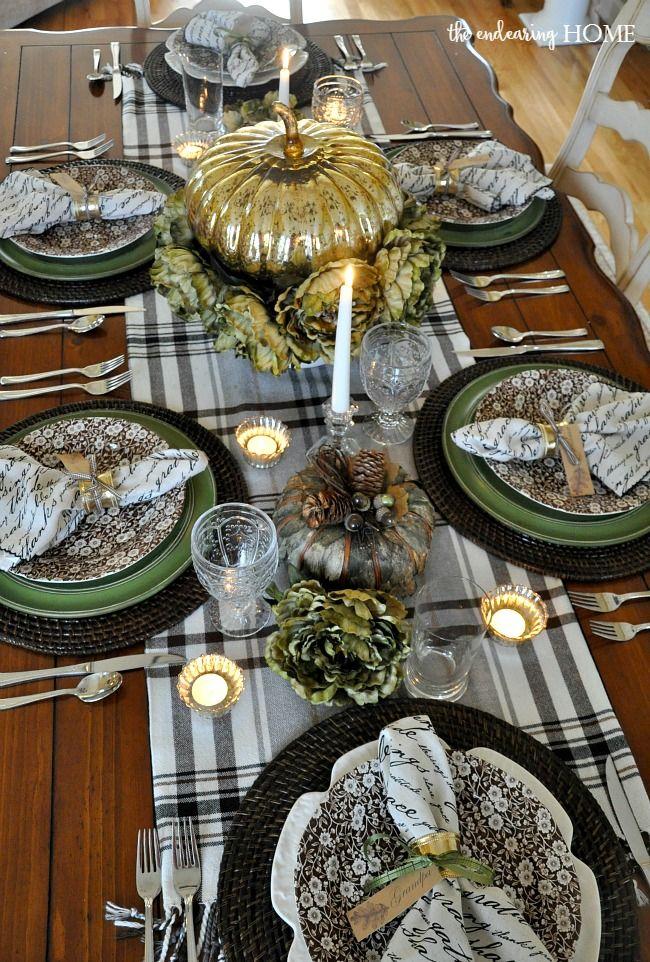 495 Best Thanksgiving Table Settings Images On Pinterest