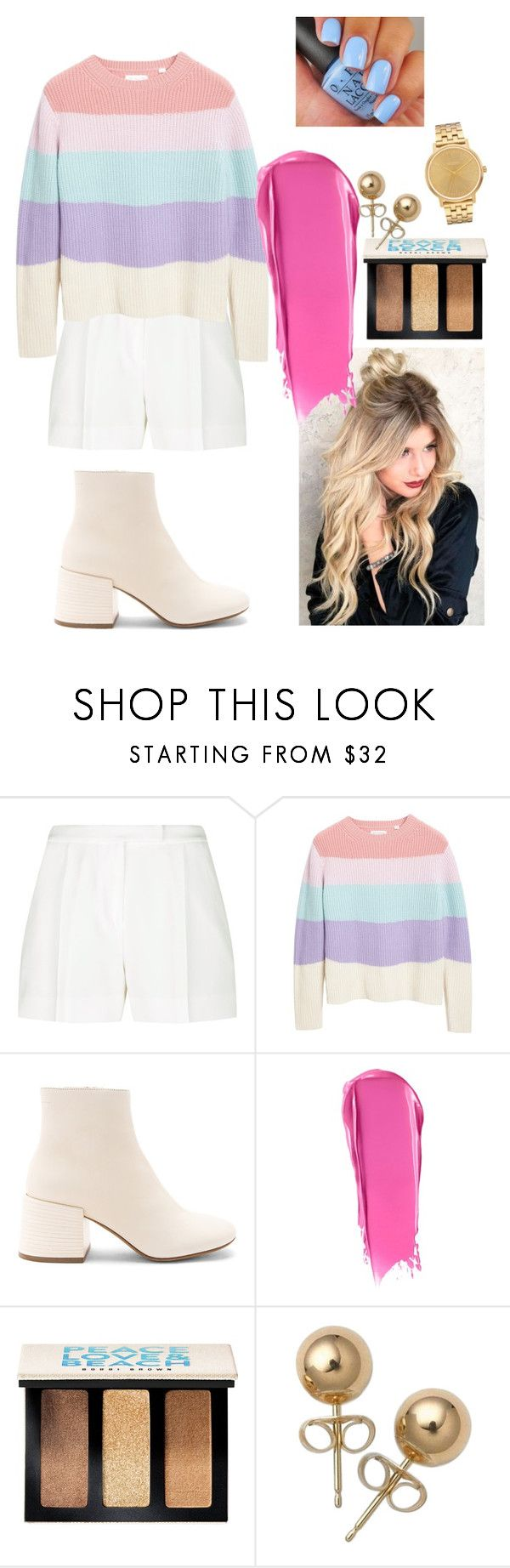 """""""Maria"""" by jolilollie on Polyvore featuring Elie Saab, Chinti and Parker, MM6 Maison Margiela, Liberty, Bobbi Brown Cosmetics, Bling Jewelry and Nixon"""