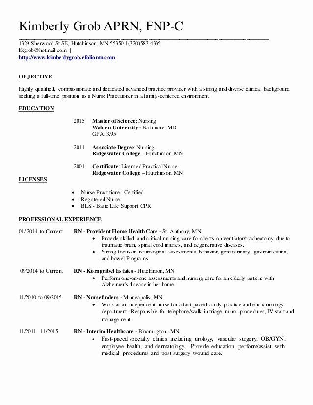 27 Nurse Practitioner Resume Example In 2020 Family Nurse Practitioner Advanced Nurse Practitioner Nurse Practitioner