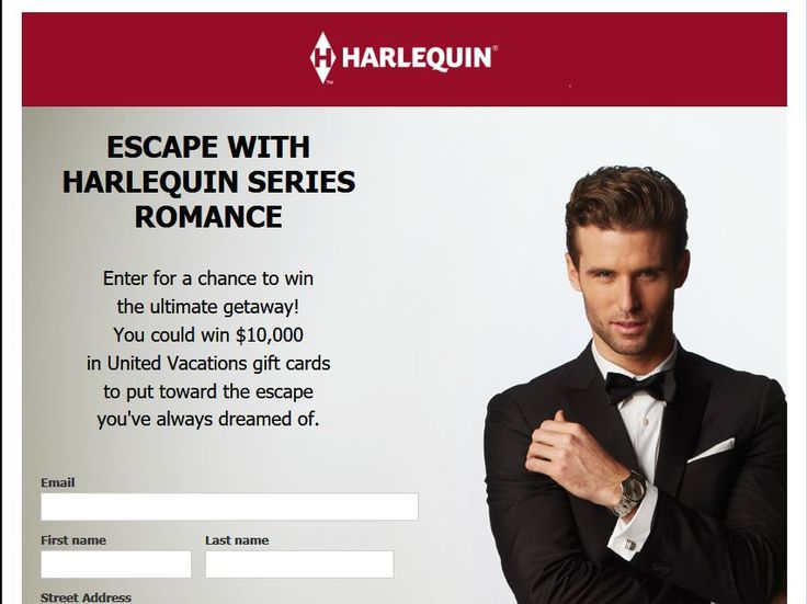 Enter The Harlequin $10,000 Vacation Sweepstakes for a chance to win $10,000 United Vacations Gift Card!