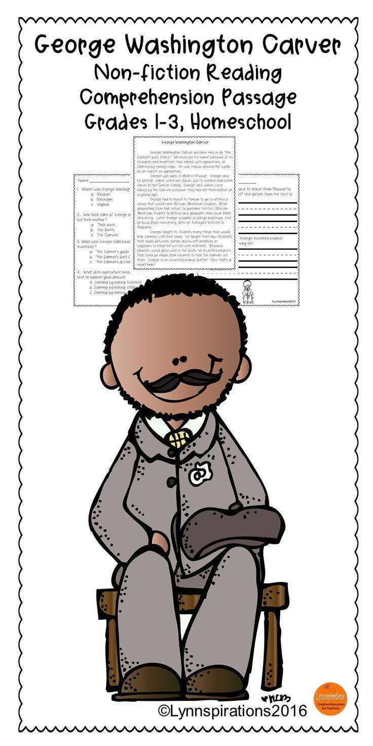 George washington carver crafts - Black History Month Reading Passage George Washington Carver