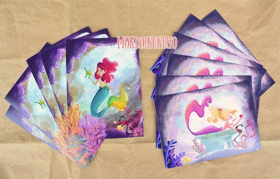 cartoline e mini-quadri da parete con Sirena di mondoinundito