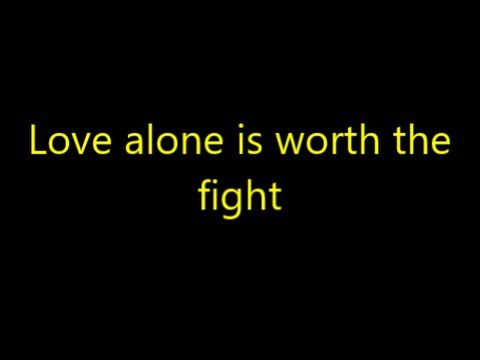 Love Alone is Worth the Fight   Switchfoot    Lyrics - YouTube