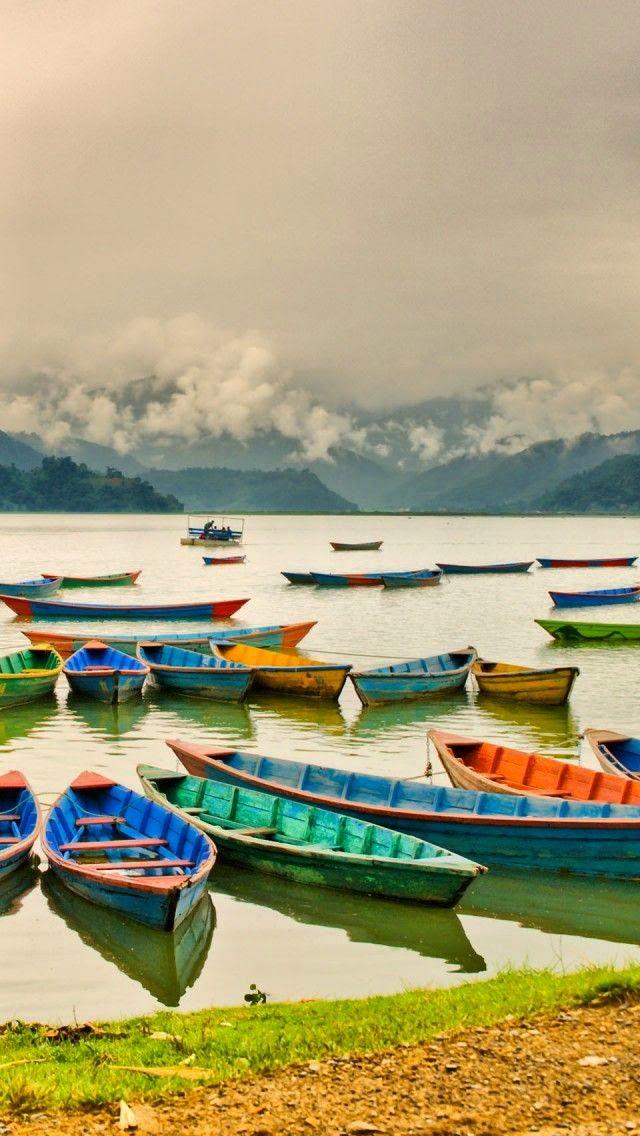 Lake Pokhara Boats, Nepal