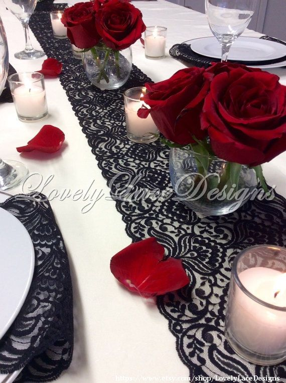 17 Best Ideas About Lace Table On Pinterest Red Grey