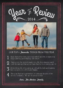 Mixbook Chalk Year in Review Holiday Photo Cards - For New Years instead of rushing to get them out before Christmas!