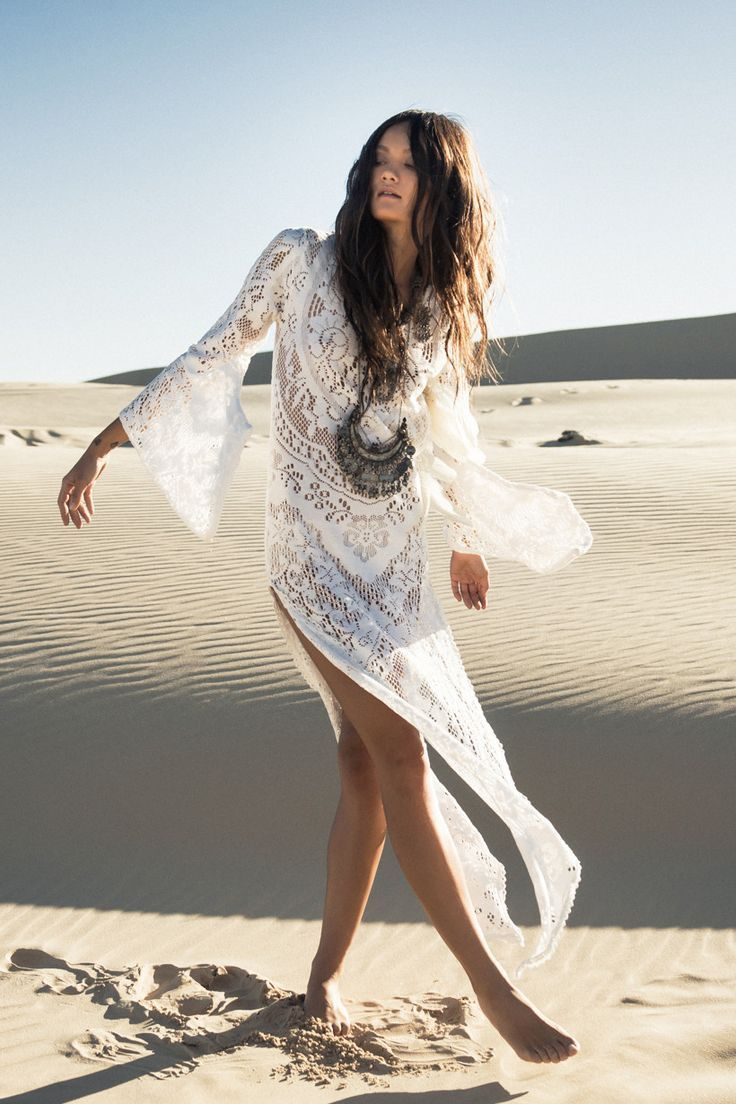 New 2015 Boho Beach Fashion Collection Fleetwood Maxi Dress Lace