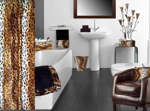 African Safari Bathroom Curtain Ideas Part 49