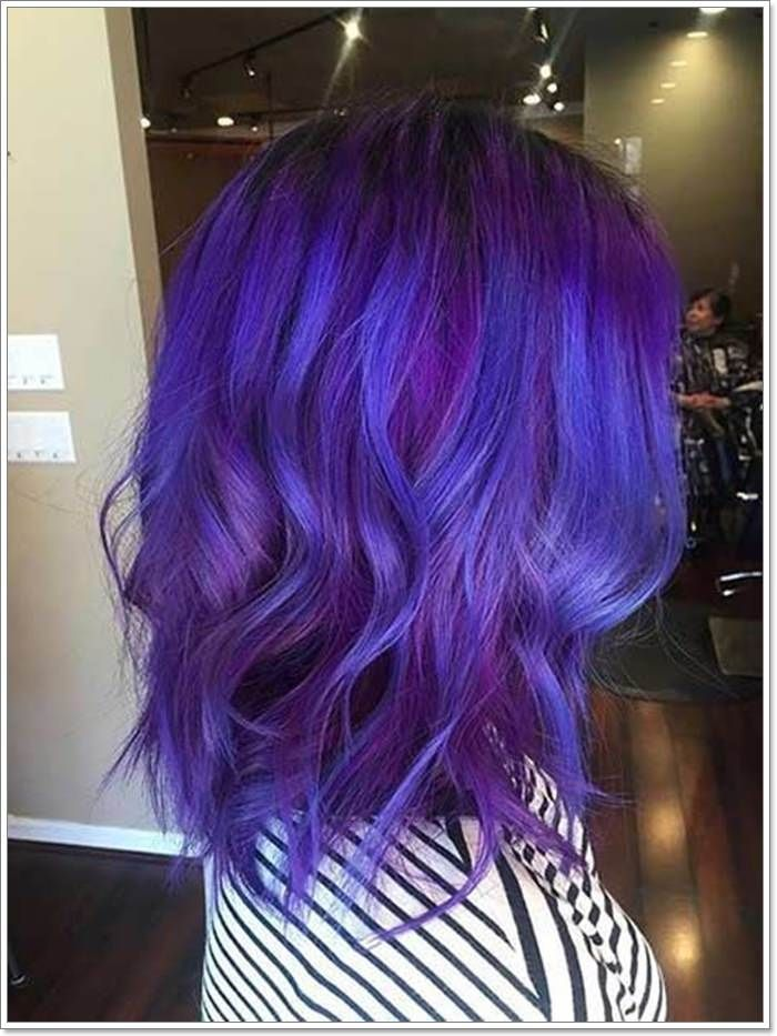 115 Extraordinary Blue And Purple Hair To Inspire You Two Tone