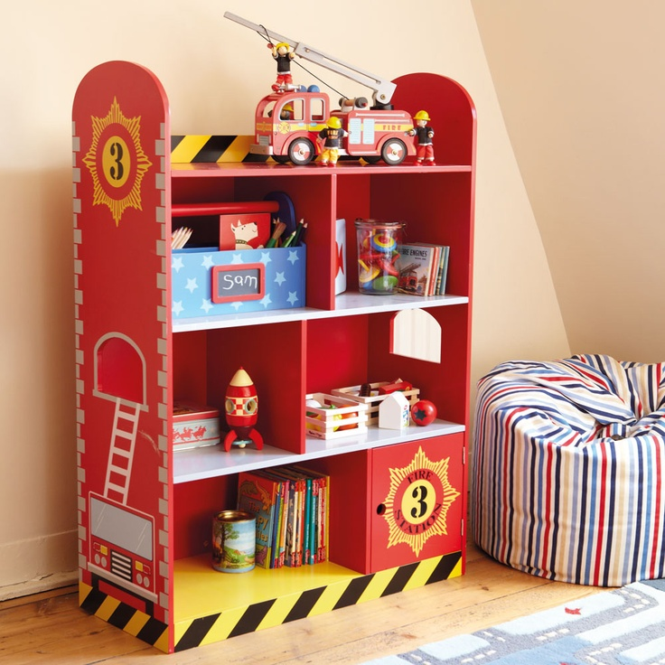 Fire Engine Bookcase   Bedroom storage to the rescue   here s the perfect  place for books and treasures of a particularly special nature 38 best Nolan s new bedroom images on Pinterest   Firetruck  . Fireman Sam Bedroom Ideas. Home Design Ideas