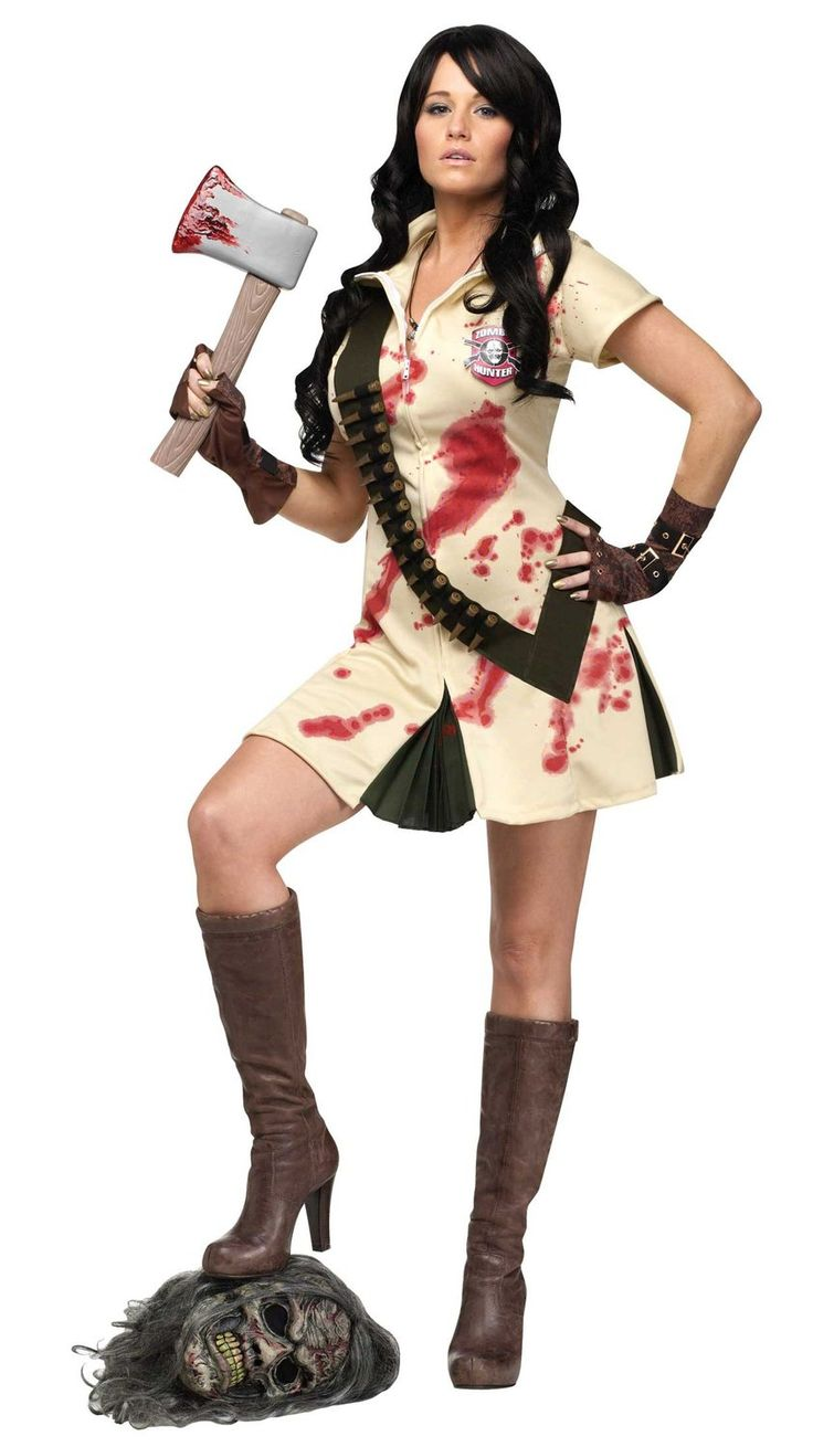 womens zombie hunter costume killer girl scout halloween costumes at escapade uk - Halloween Costumes Of Zombies
