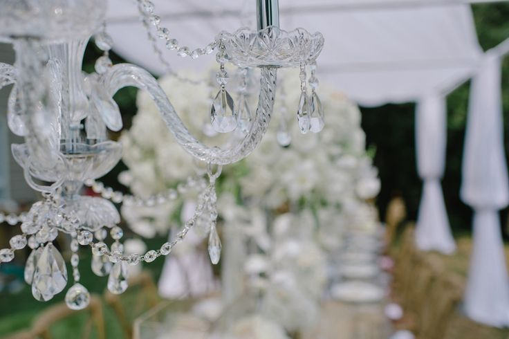 Erin & Matt — Full Bloom - crystal chandelier