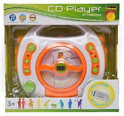 Idena 6800533 - Lecteur CD et MP3 avec deux micros pour chanter, port USB