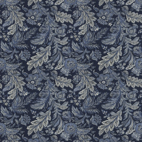 Castellet Paisley Navy Paisley Fabric Products