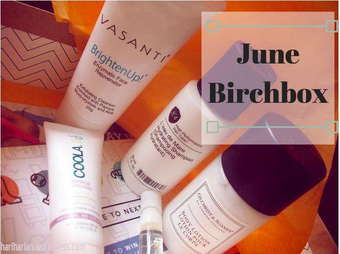 June Birchbox beauty makeup skincare subscription box