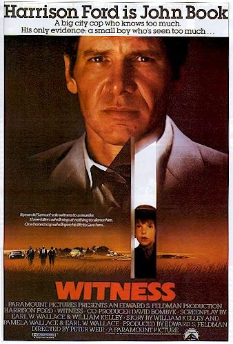 Witness (1985) A young Amish boy is sole witness to a murder; policeman John Book goes into hiding in Amish country to protect him until the trial.