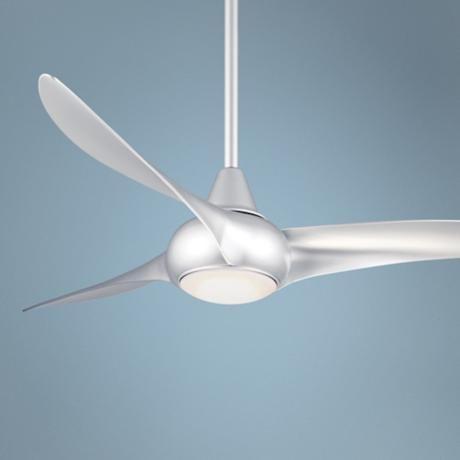 52 Quot Minka Aire Light Wave Silver Ceiling Fan Ceiling