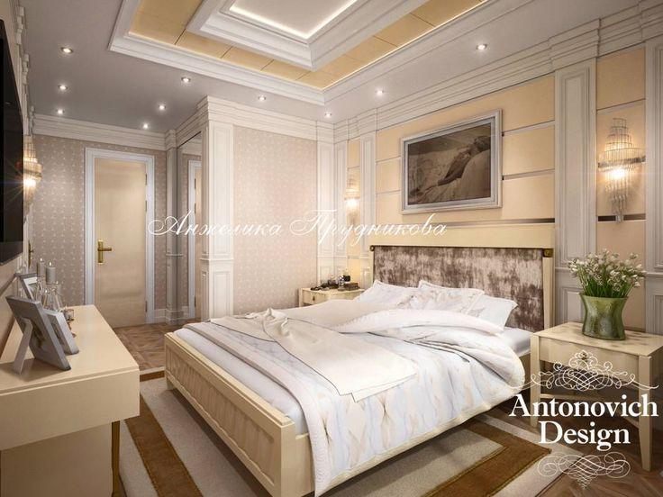 Проект интерьера спальни в стиле Ар-Деко — фото интерьеров спальни, 3D-проекции - Дизайн спальни