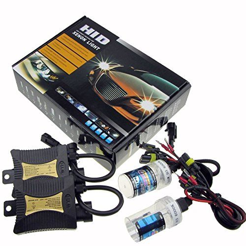 JINYJIA 12V 55W Xenon HID Conversion Kit Headlight for Car Vehicle Replacement Bulb, H1/6000K