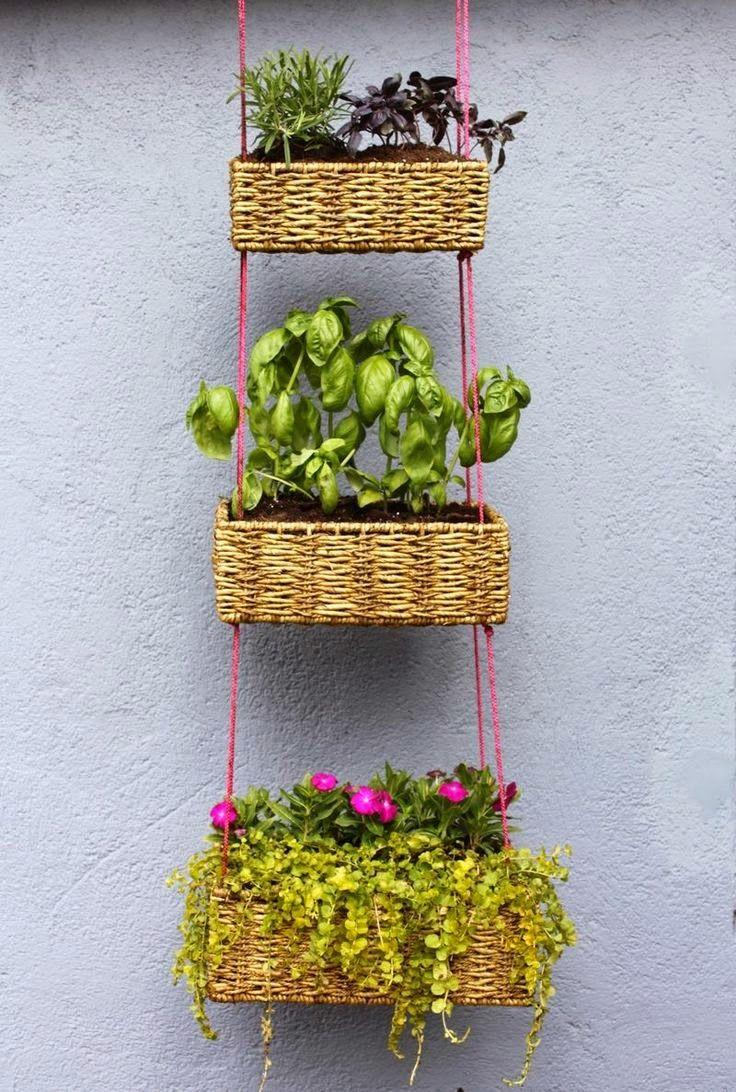 Hängende Blumenkörbe DIY