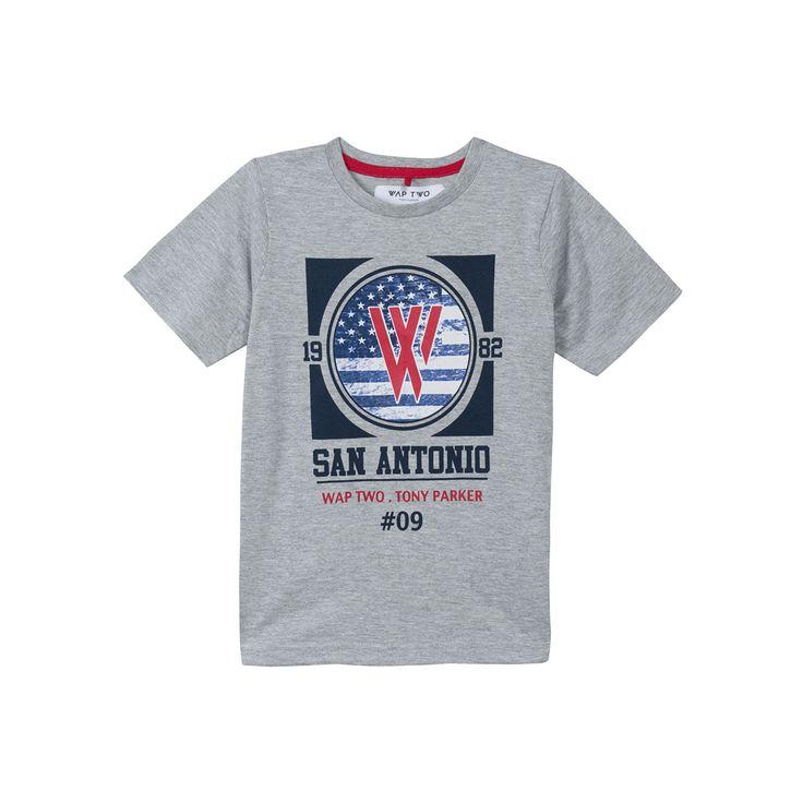 T-shirt grigia WAP TWO collection #WAPTWO #kids #summer #boy #zgeneration http://it.zgeneration.com/it/