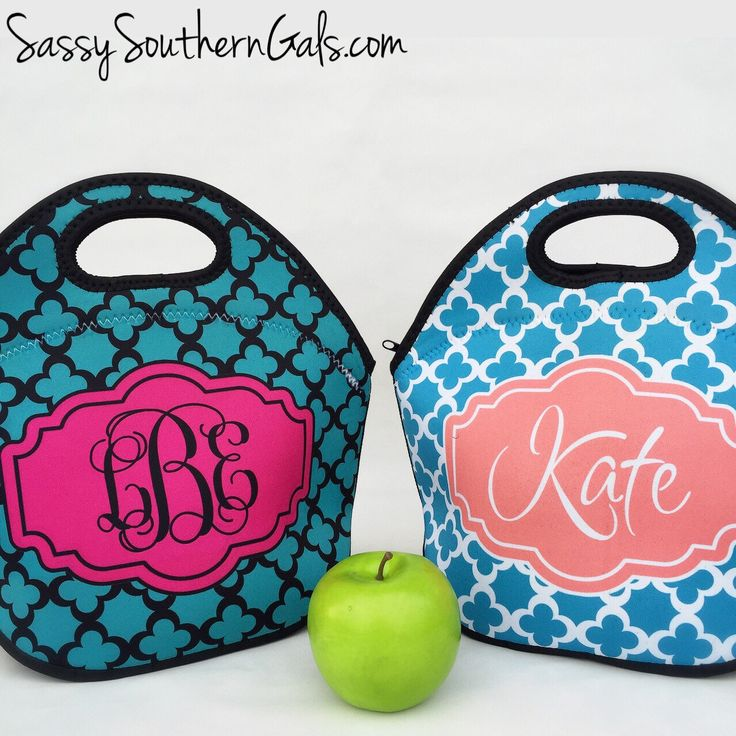 New to SassySouthernGals on Etsy: Monogrammed Lunch Box Monogrammed Lunch Bag Monogrammed Lunch Tote Personalized Lunch Tote Monogrammed Gift (36.00 USD)