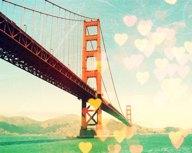 "#Capturethecolourcontest Meagen Higginbott ""Golden Gate Bokeh"": Wall Decor, Decor Golden, Francisco Photography, Heart, Golden Gate Bridge, Golden Gates Bridges, Art Prints, San Francisco, Gates Bokeh"