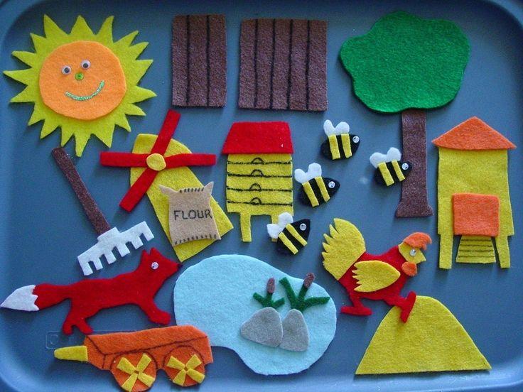 ROSIE'S WALK Children's Flannel Board Felt Set by FunFeltStories